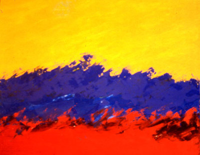 Landscape with Primary Colors